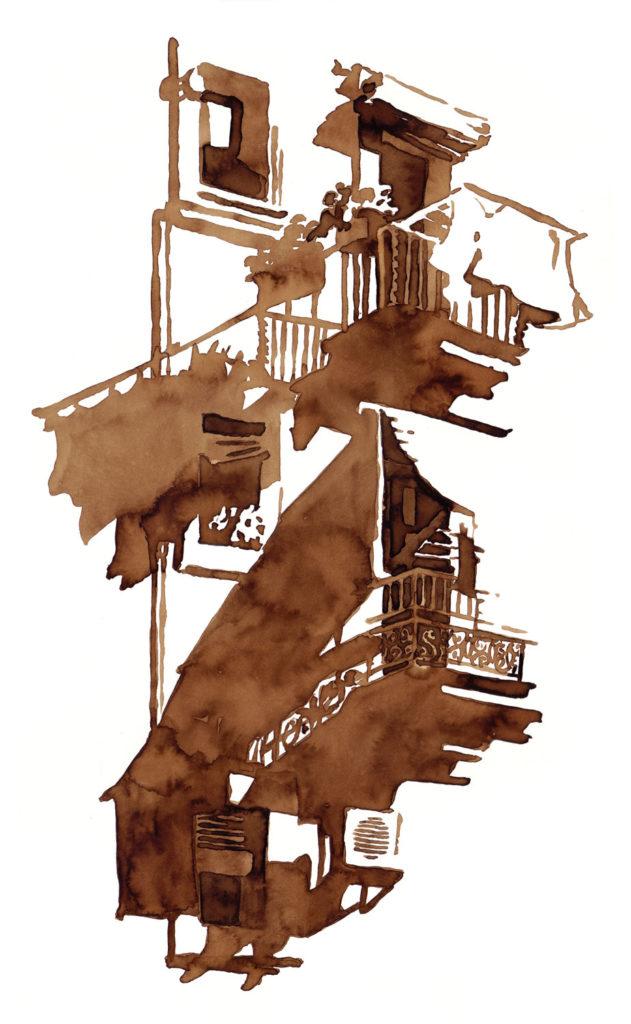 Brou de noix balcon